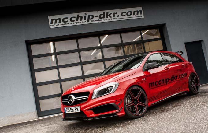 Mercedes Classe A Tuning: 450 cavalli per la A45 AMG grazie a mcchip-dkr