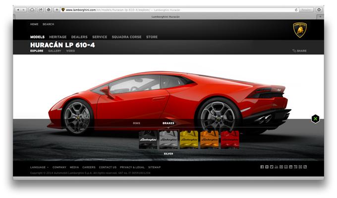Lamborghini Huracán, disponibile il configuratore ufficiale online