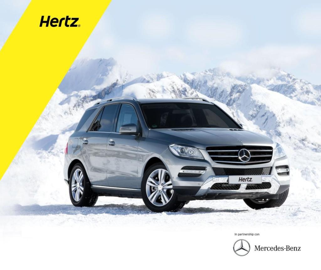Mercedes, versioni 4Matic anche per i clienti Hertz