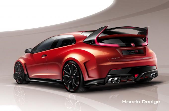 Honda Civic Type R concept, teaser prima del Salone di Ginevra 2014