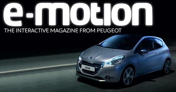 Peugeot eMotion, arriva la rivista multimediale per tablet iOS e Android