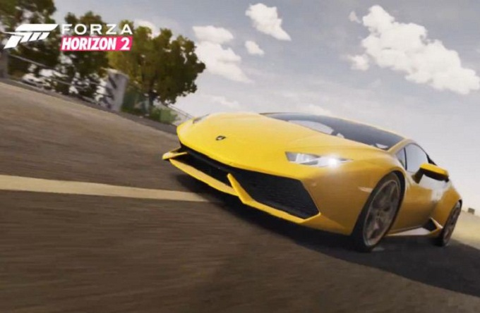 forza horizon 2 video trailer con la lamborghini huracan. Black Bedroom Furniture Sets. Home Design Ideas