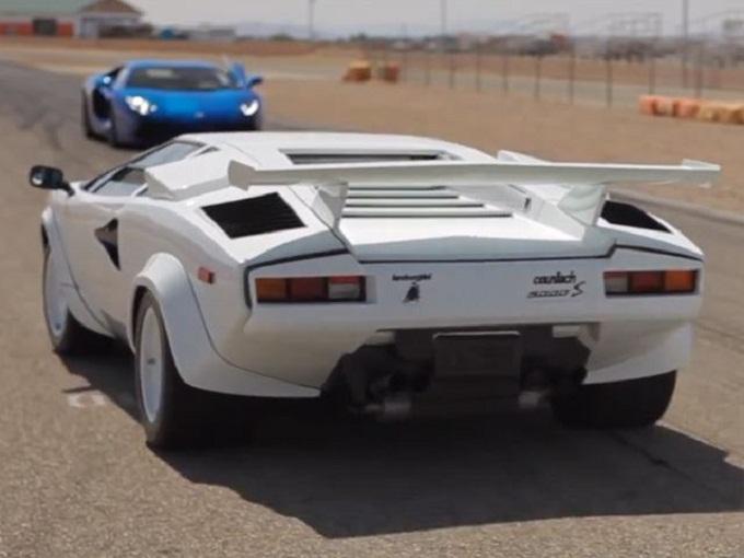 Lamborghini Aventador vs. Countach, sfida senza tempo