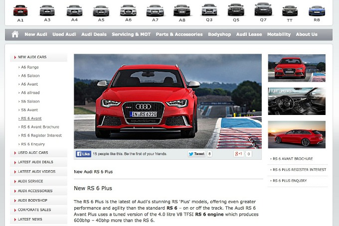 Audi RS6 Avant Plus, trapelata la brochure ufficiale sul web