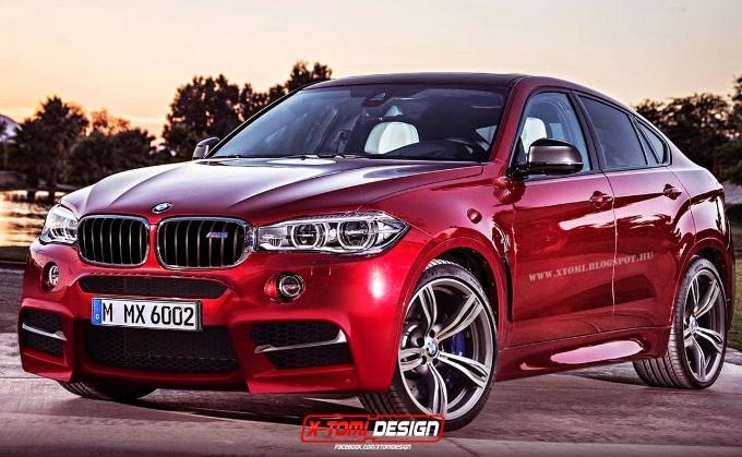 BMW X6 M, rendering della futura generazione