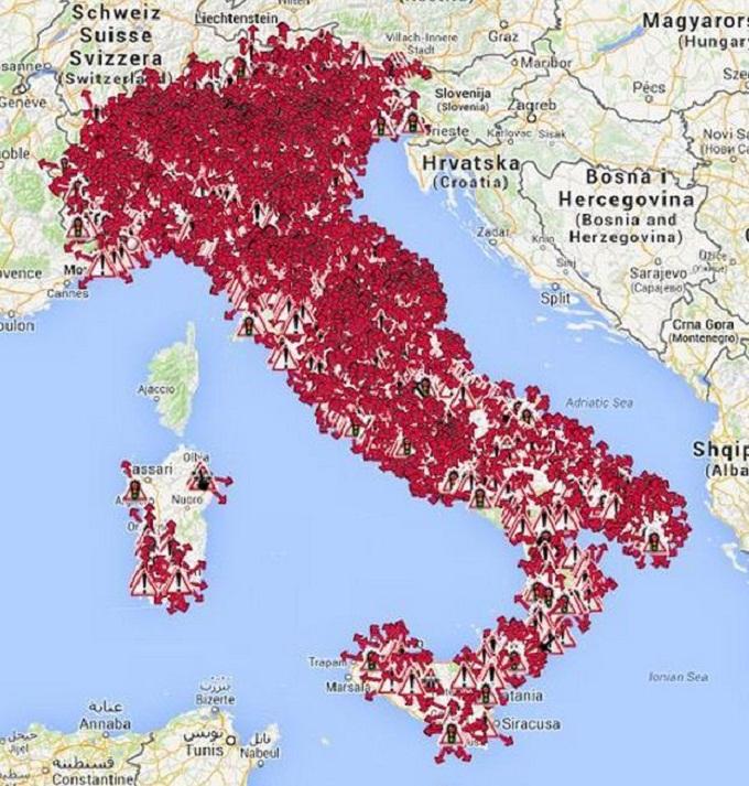 """Autovelox, Italia coperta """"a tappeto"""": ecco la mappa"""