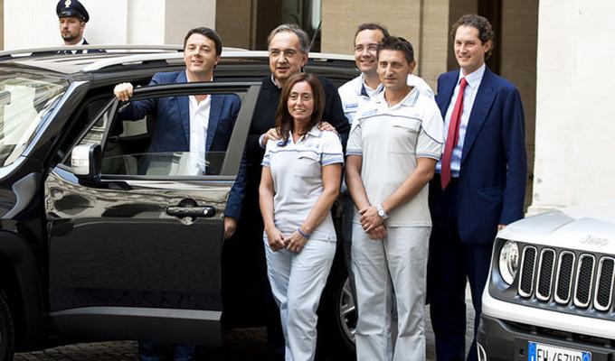 Jeep Renegade: incontro a Palazzo Chigi con Renzi, Marchionne e John Elkann