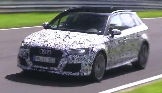 Audi RS3 Sportback 2015 spiata durante i test sul Nurburgring