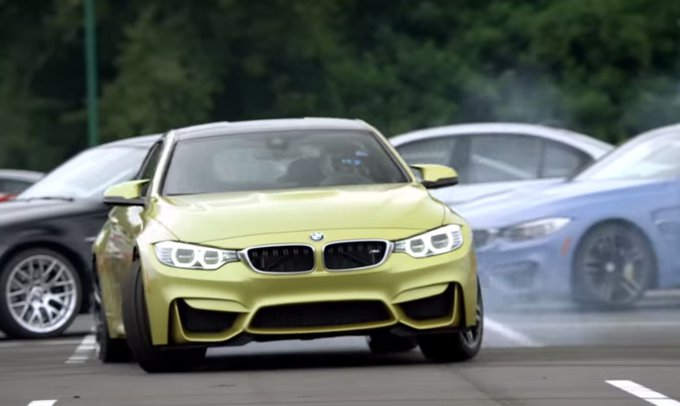 BMW M4: spettacolare video mostra le sue doti nel drifting