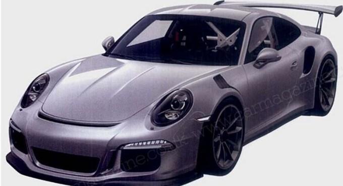 Nuova Porsche 911 GT3 RS, sfuggono online le prime foto dei brevetti