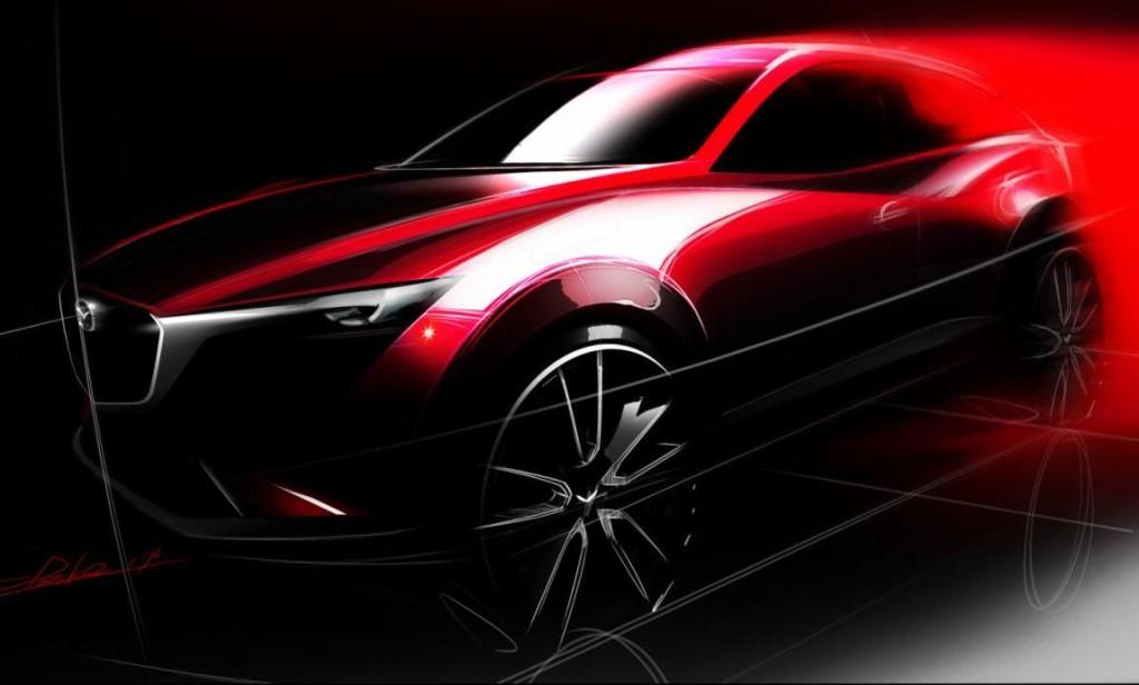 Mazda CX-3: immagine teaser del nuovo crossover entry-level