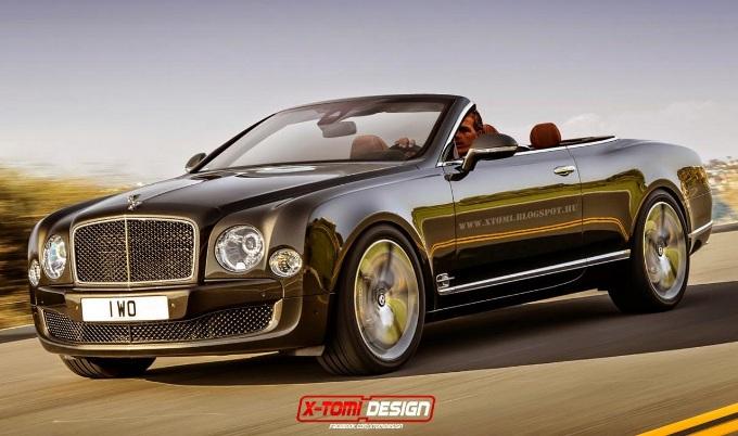 Bentley Mulsanne Speed, rendering della variante senza tetto