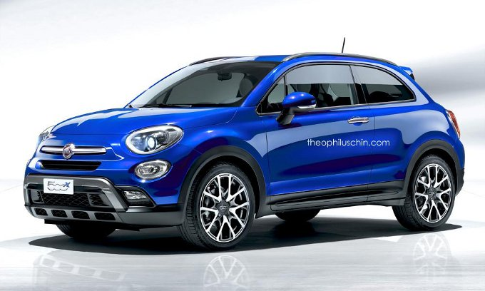 fiat 500x coup rendering di una versione 3 porte del. Black Bedroom Furniture Sets. Home Design Ideas