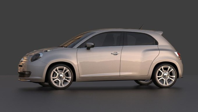 Fiat 600 - Rendering by David Obendorfer