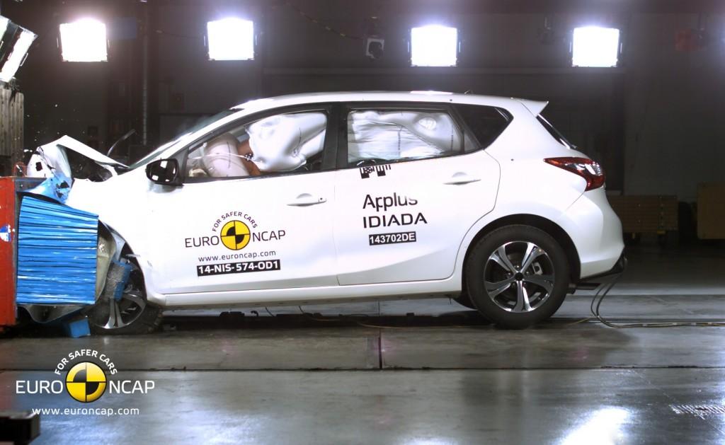 Nissan Pulsar, sicurezza al top con le 5 stelle Euro NCAP