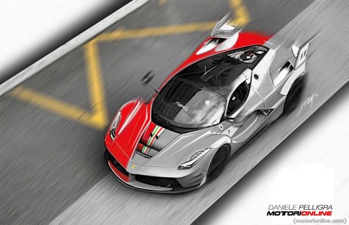 Ferrari LaFerrari XX negli sketch design di Daniele Pelligra