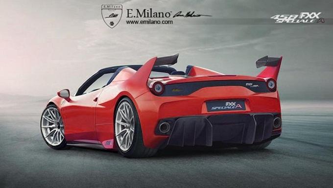 Ferrari 458 FXX Speciale A, Evren Milano immagina la 458 Speciale Aperta per la pista [RENDERING]
