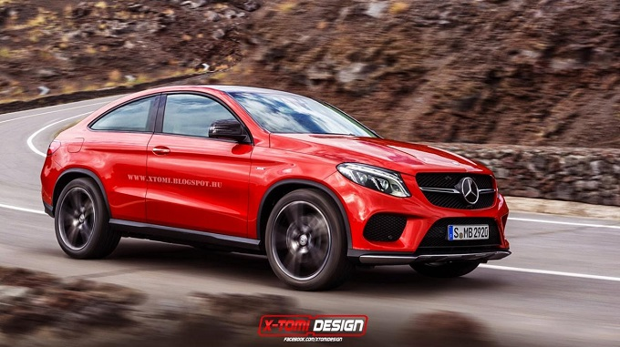 mercedes gle coup rendering di una versione 3 porte. Black Bedroom Furniture Sets. Home Design Ideas