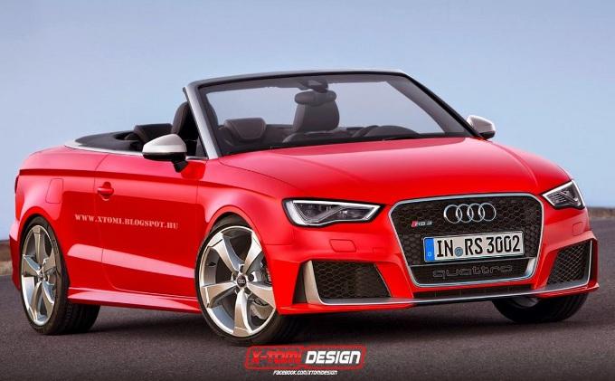 Audi RS3, rendering della versione cabriolet