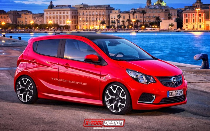 Opel Karl OPC, rendering dell'ipotetica variante sportiva