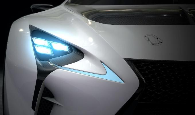 Lexus LF-LC GT Vision, teaser della variante Vision Gran Turismo
