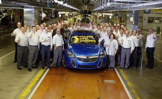 Opel Insignia, prodotto l'esemplare numero 750.000