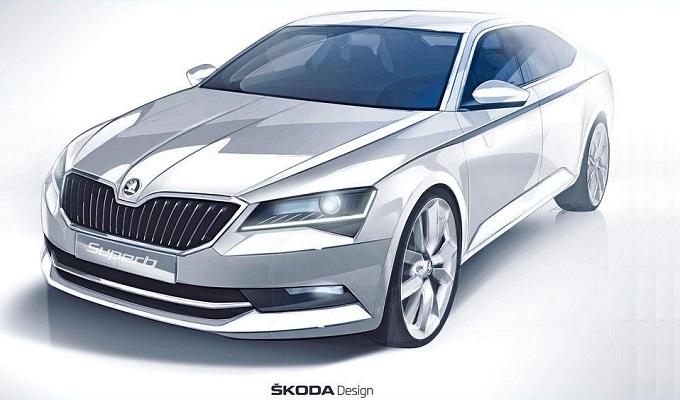 Skoda: un disegno anticipa le forme della nuova Superb