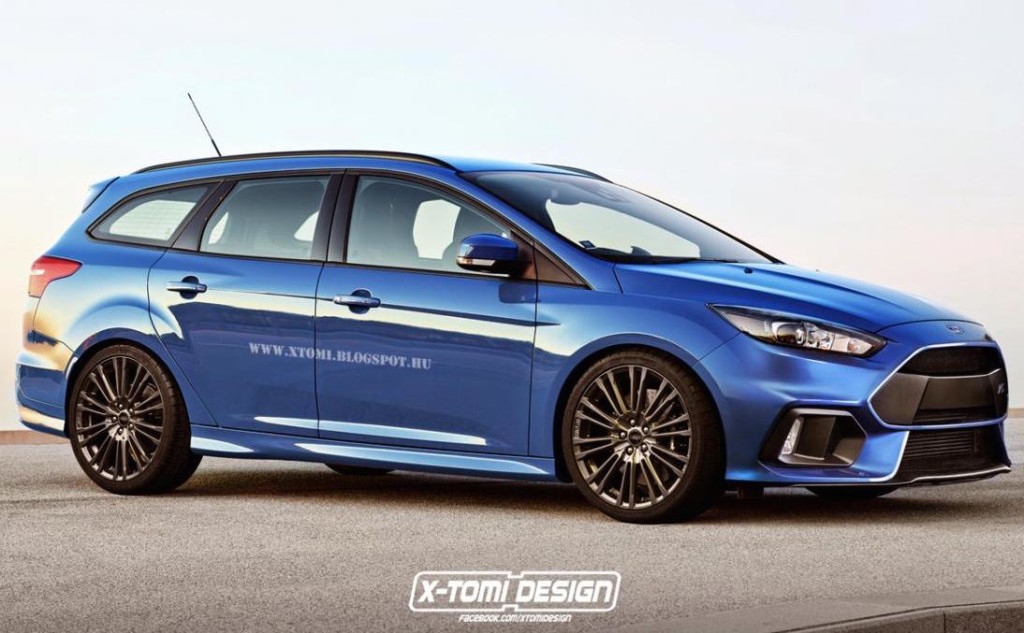 Ford Focus Rs 2015 Rendering Della Station Wagon