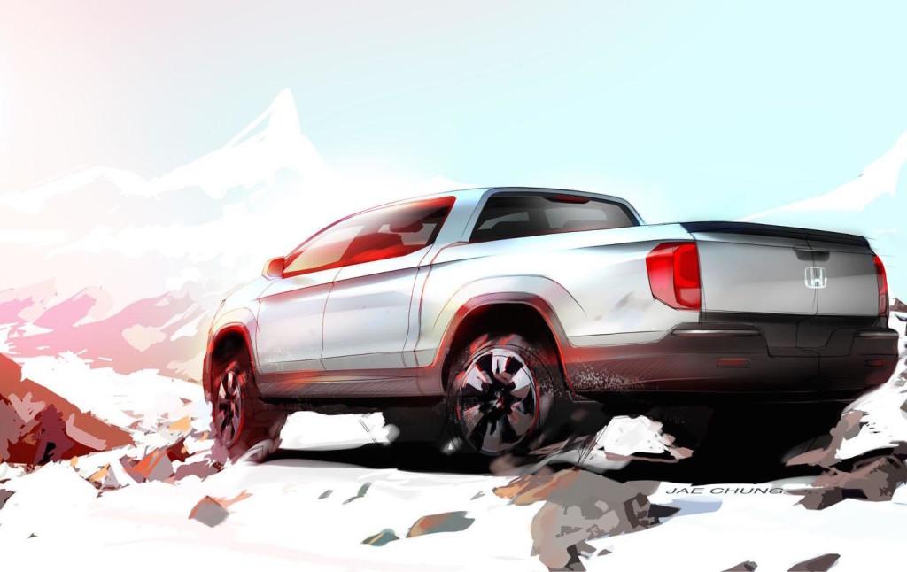 Honda Ridgeline, teaser al Salone di Chicago 2015
