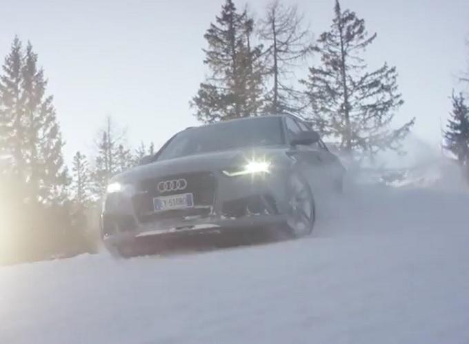 """Audi RS6 quattro, in pista a Madonna di Campiglio per uno """"speciale parallelo"""" [VIDEO]"""