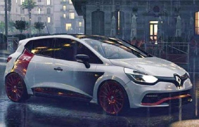 renault clio rs trophy un paio di immagini trapelano in rete prima del debutto a ginevra 2015. Black Bedroom Furniture Sets. Home Design Ideas