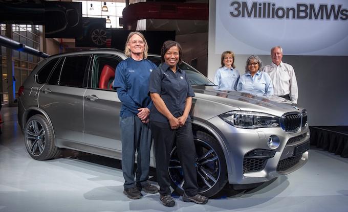 BMW festeggia il 3 milionesimo veicolo uscito dalla fabbrica di Spartanburg