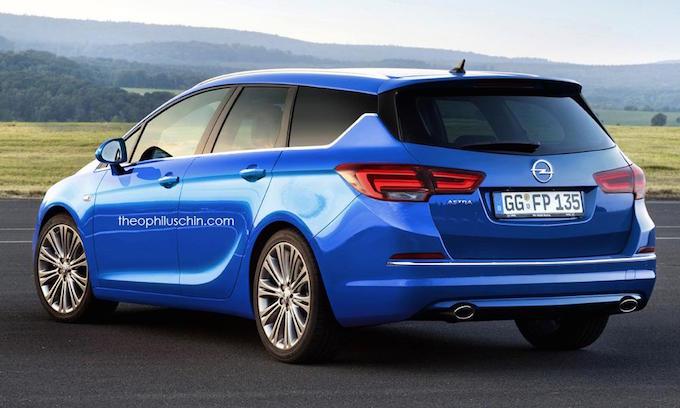 Opel Astra Sports Tourer 2016 rendering