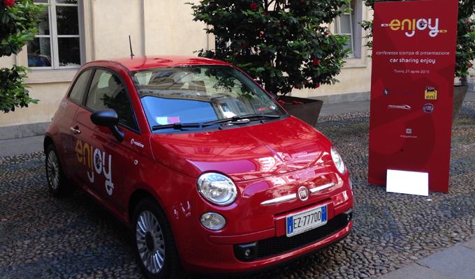 Car sharing: le Fiat 500 di Enjoy anche sulle strade di Torino
