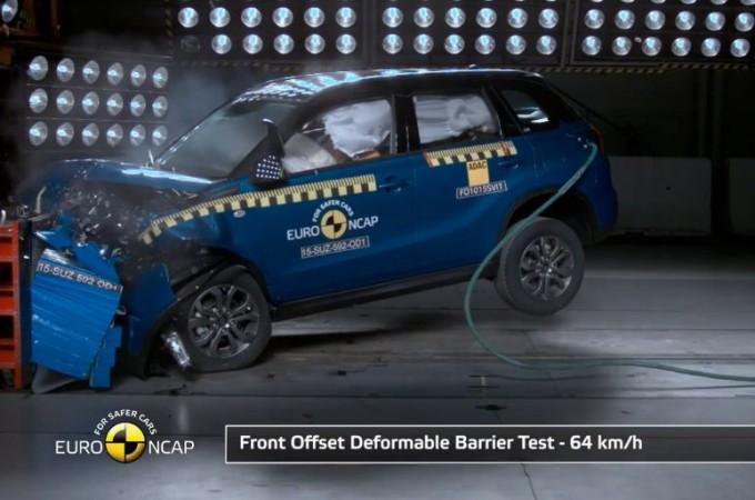 Suzuki Vitara MY 2015, sicurezza da 5 stelle Euro NCAP [VIDEO]