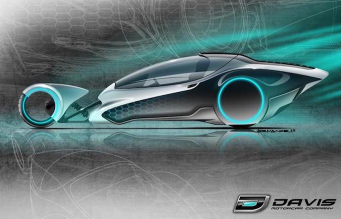 Davis Divan II, teaser di una tre ruote proveniente dal futuro
