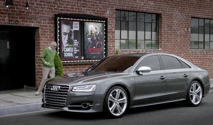 Audi S8 e Stan Lee protagonisti nell'arte del Cameo [VIDEO]
