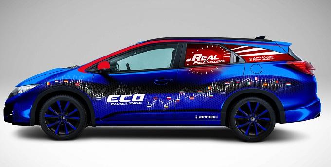 Honda Civic Tourer 1.6 i-DTEC, tenta il Guinness World Record per il più basso consumo di carburante