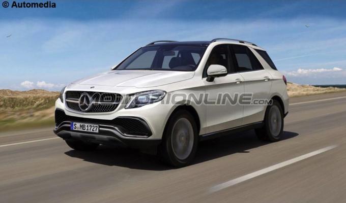Mercedes GLE MY 2018: si prospetta più efficienza e meno peso [RENDERING]