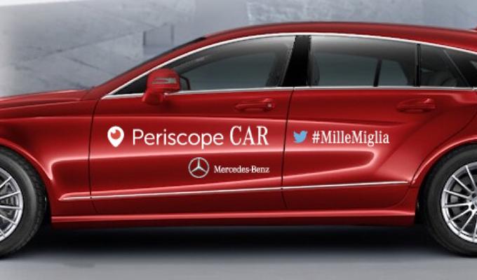 Mercedes e Twitter portano la Mille Miglia sulle strade del web con Periscope