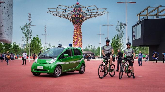 Mitsubishi i-MiEV, al fianco dei Forestali durante l'EXPO 2015