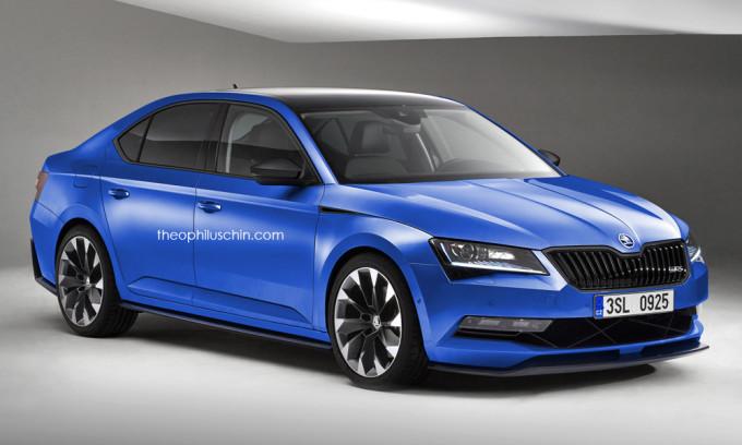 Skoda Superb RS 2015 - rendering