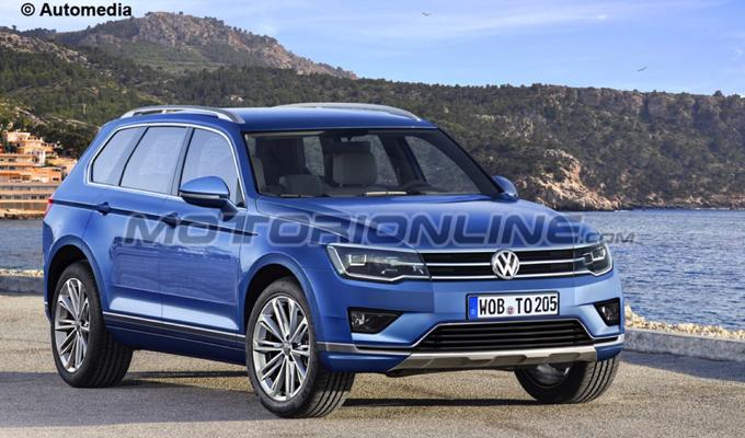 Volkswagen Touareg MY 2018: come potrebbe essere il nuovo possente SUV tedesco [RENDERING]