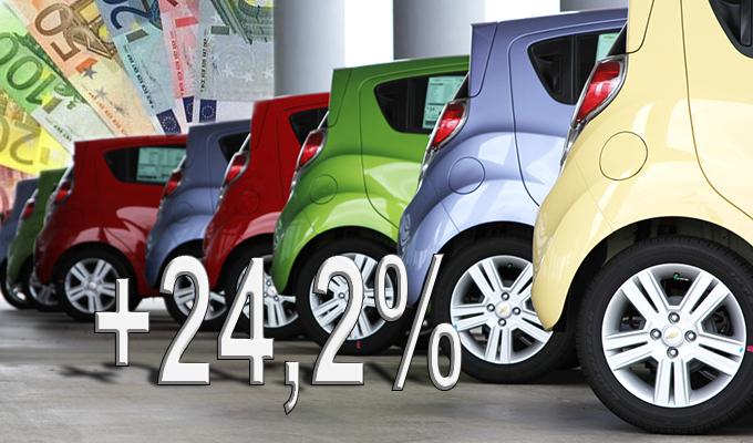 Mercato auto: ad aprile continua la crescita con un +24,2%