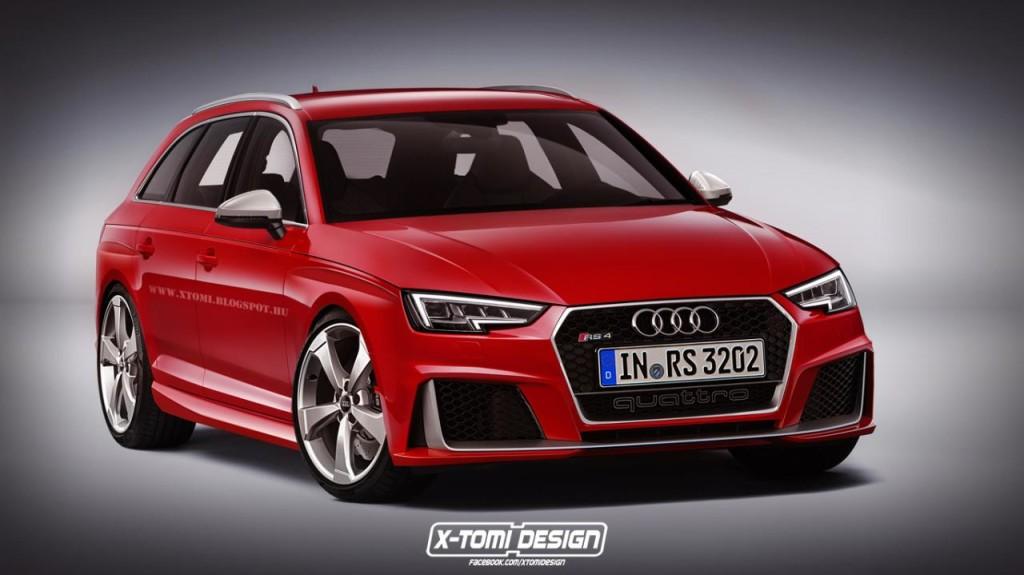 Audi RS4 Avant, prove di stile del nuovo modello [RENDERING]