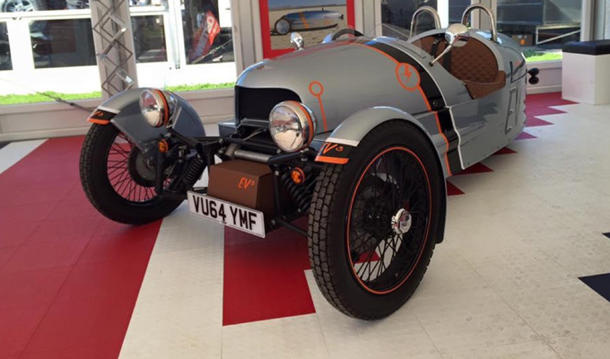 Morgan EV3 concept a Goodwood - Festival of Speed 2015
