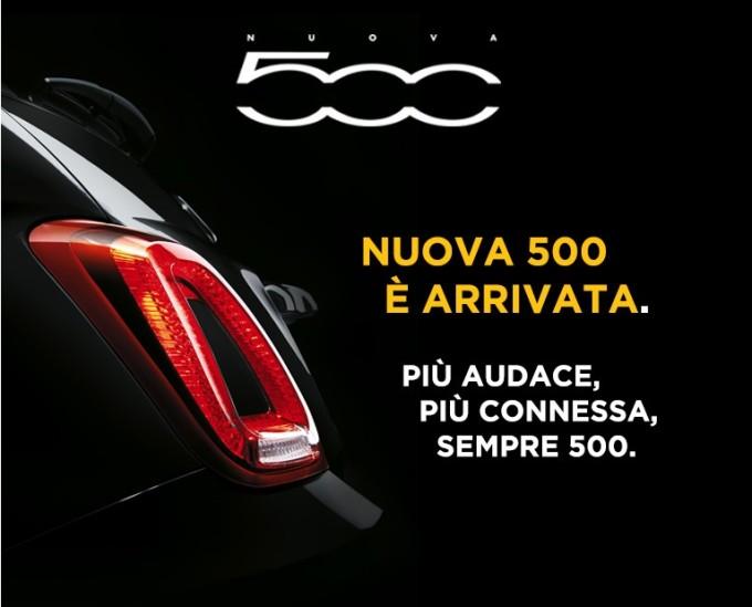 Nuova Fiat 500, arriva il teaser che ci mostra la coda