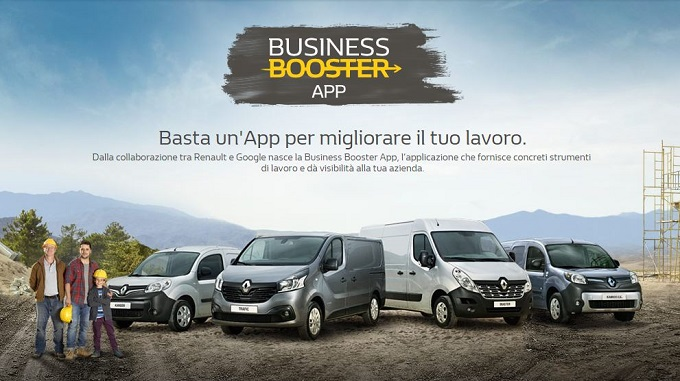 Renault lancia Business Booster, l'app che integra veicoli commerciali e attività aziendali