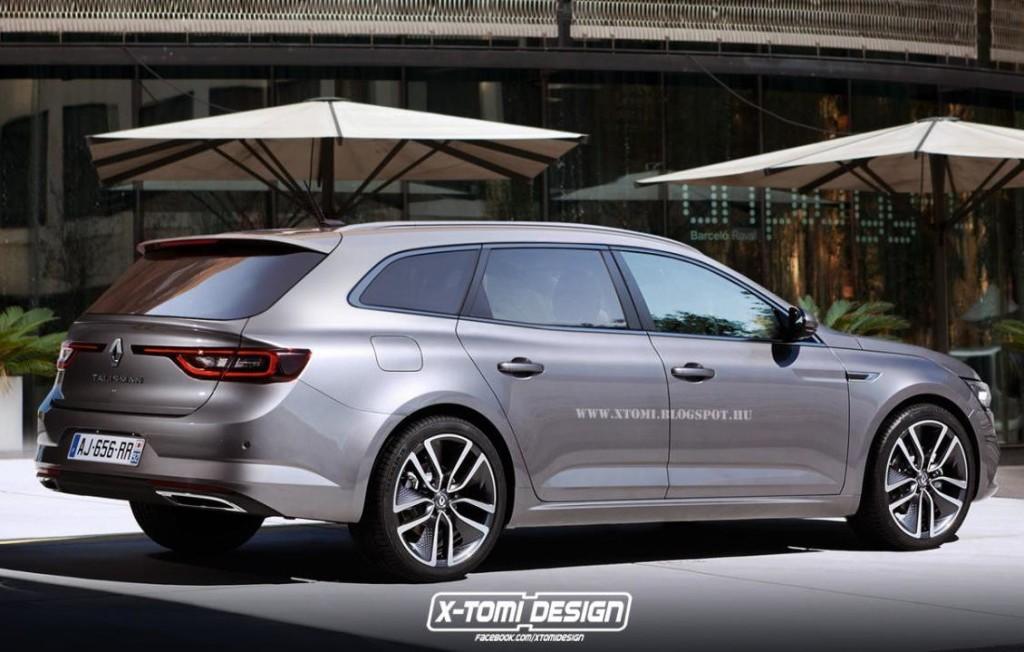 Renault Talisman wagon, il render che ne tira fuori praticità e pragmatismo