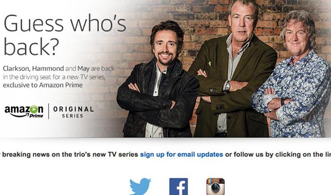 Top Gear: Clarkson, Hammond e May firmano ufficialmente con Amazon